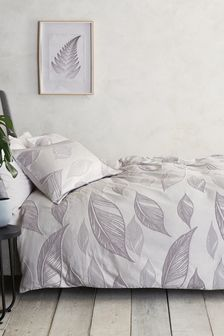 Natural Leaf Jacquard Bed Set