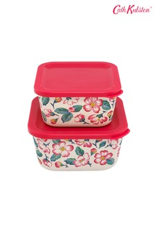 Set of 2 Cath Kidston® Bunny Meadow Bamboo Lunch Boxes