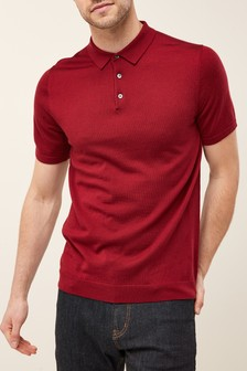 Short Sleeve Merino Polo
