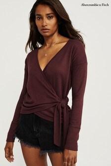 Abercrombie & Fitch T-Shirt, burgunderrot