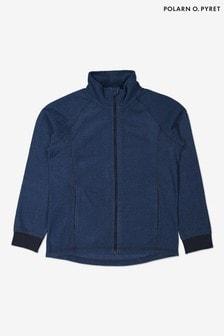 Polarn O. Pyret Blue Soft Thermal Fleece Zip Up Top