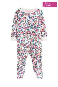 Joules Pink Razamataz Printed Babygrow