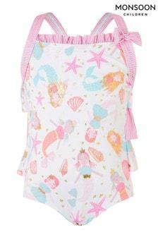 Monsoon Baby Mermaid Print Swimsuit