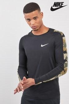T-shirt Nike à manches longues imprimé camouflage