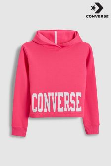 Converse Pink Cropped Hoody
