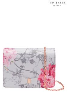 Ted Baker Grey Aline Floral Clutch Bag