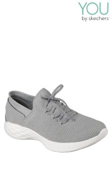 Skechers® You Spirit Grey Two Tone Lace Detail Slip-On