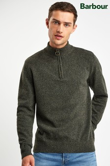 Barbour® Green Tisbury Half Zip Jumper