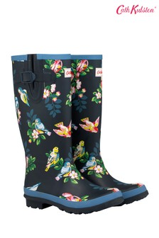 Cath Kidston® Spaced Spring Birds Printed Wellington Boot