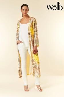 Wallis Yellow Palm Duster Jacket