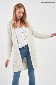 Abercrombie & Fitch Cream Cardigan