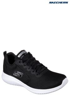 Skechers® Black Qtr Deco Stitch Mesh Lace-Up With AirCooled MF