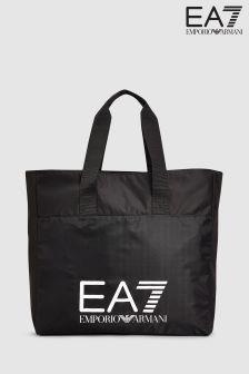 Emporio Armani EA7 Black Shopping Bag