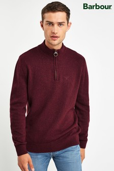 Barbour® Red Tisbury Half Zip Jumper