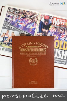 Personalised British Cycling Heroes Newspaper Book by Signature Book Publishing