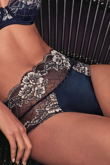 Silk And Lace Midi Knickers