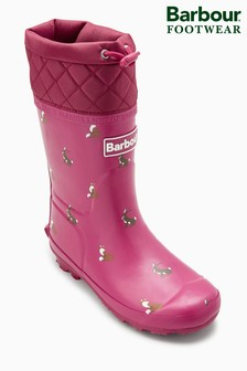Barbour® Pink Animal Corbridge Welliy
