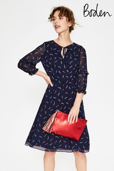 Boden Blue Iona Midi Dress