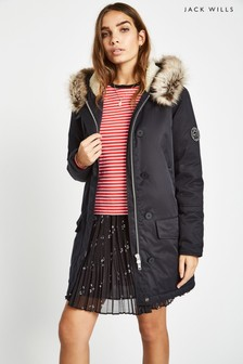 Jack Wills Black Lachbury Ultimate Parka