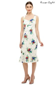 Phase Eight White Bethania Floral Dress