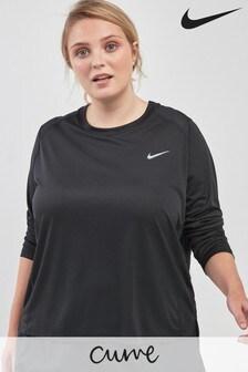 Nike Curve Black Miler Long Sleeve Top
