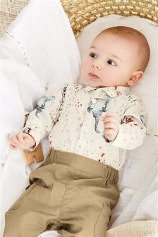 动物印花上衣 (0个月-2岁)