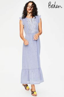 Boden Blue Lucinda Broderie Dress