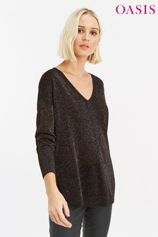2326b2207bf Buy Women s knitwear Knitwear Black Black Jumpers Jumpers Oasis ...