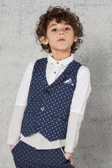 Angel & Rocket Navy Smart Tailored Waistcoat