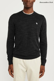 Abercrombie & Fitch Charcoal Crew Neck Knit Jumper