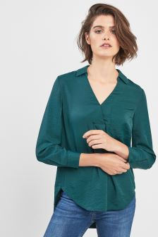 Whistles Green Ella Pocket Shirt