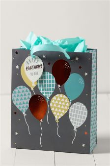 Men's Balloon Medium Gift Bag