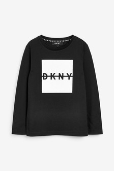 DKNY Black Long Seeve Logo T-Shirt