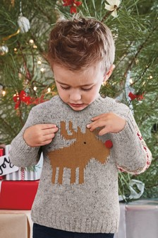 Christmas Reindeer Knit (3mths-6yrs)