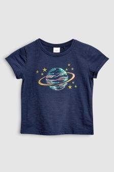 Sequin Planet Short Sleeve T-Shirt (3mths-6yrs)