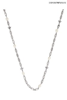 Emporio Armani Sterling Silver Essential Pearl Necklace