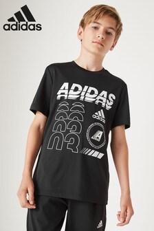 adidas Black Training Logo T-Shirt