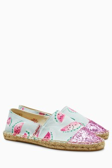 Cath Kidston® Watermelons Glittery Espadrille