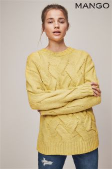 Mango Yellow Knitted Jumper