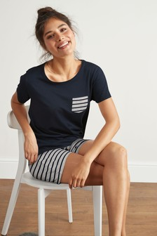 Stripe Cotton Blend Short Pyjamas