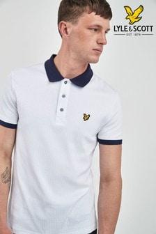 Lyle & Scott White Contrast Poloshirt