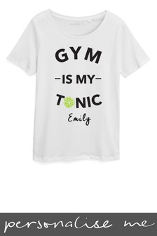 Personalised Gym Is My Tonic Printed T-Shirt