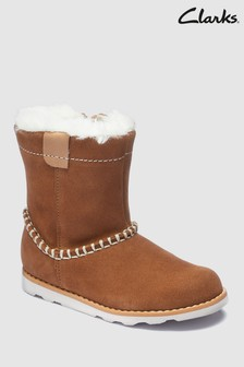 Bottes Clarks First Crown Piper en daim fauve