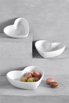 Set of 3 Nesting Heart Dip Bowls