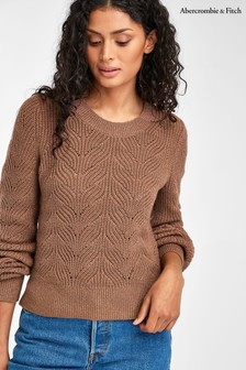 Abercrombie & Fitch Pink Puff Sleeve Jumper