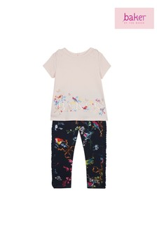 baker by Ted Baker Toddler Baker Logo Top And Legging Set