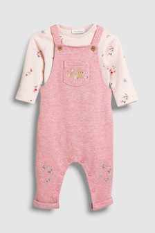 Embellished Dungarees And Bodysuit Set (0mths-2yrs)