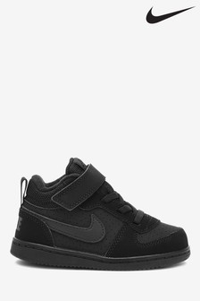 Nike Black Court Borough Mid Infant Trainers