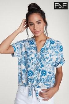 F&F Blue Paisley Print Shirt