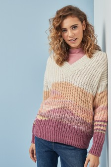Spacedye V-Neck Jumper